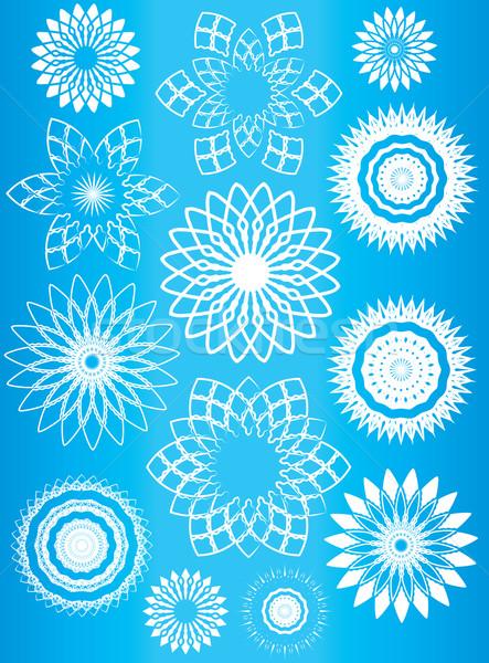 Floral géométrique design modèle résumé fond Photo stock © Zuzuan