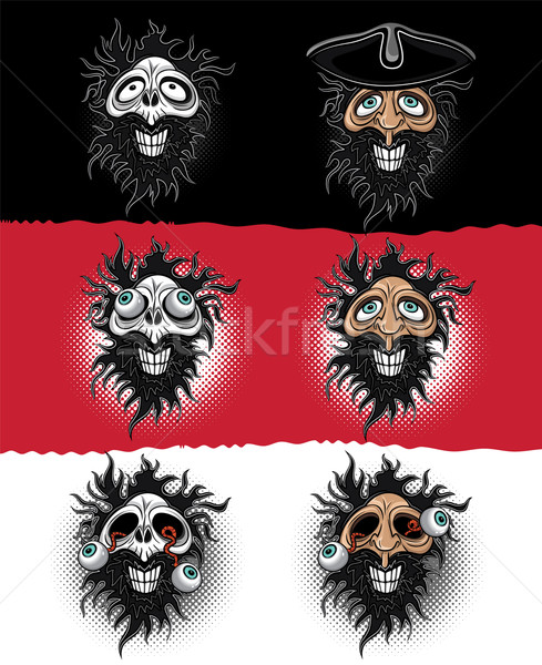 halloween pirate zombie skull illustration Stock photo © Zuzuan