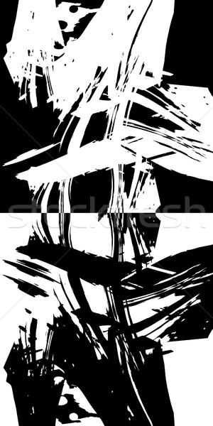 Résumé lignes texture design noir blanche Photo stock © Zuzuan