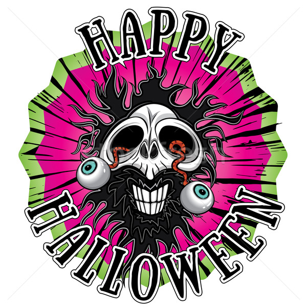 halloween horror zombie skull illustration Stock photo © Zuzuan