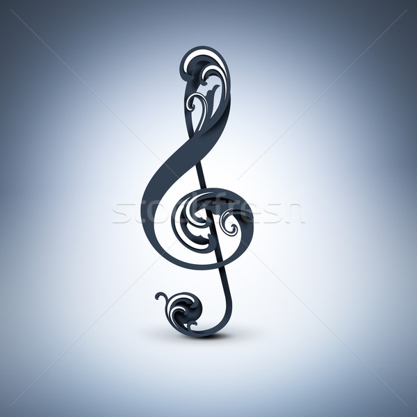 treble clef  Stock photo © zven0