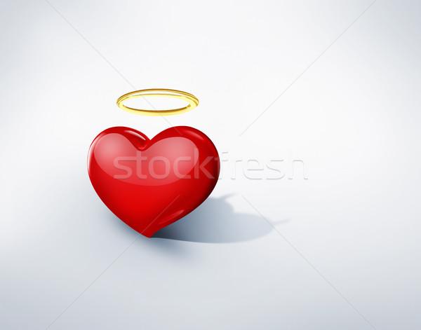 любви сердце ангела тень демон аннотация Сток-фото © zven0
