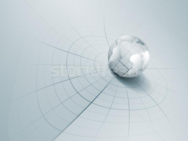 Futurisztikus technológia absztrakt világ földgömb fény Stock fotó © zven0