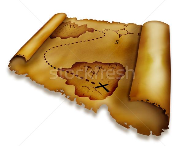 Treasure map Stock photo © zven0