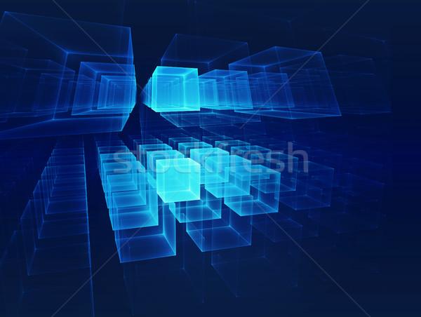 Futurista tecnologia negócio luz projeto Foto stock © zven0
