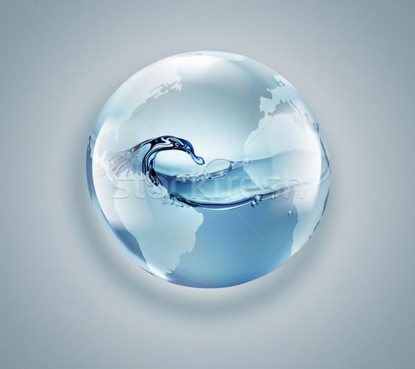 świat świecie czysta woda wewnątrz świetle działalności Zdjęcia stock © zven0