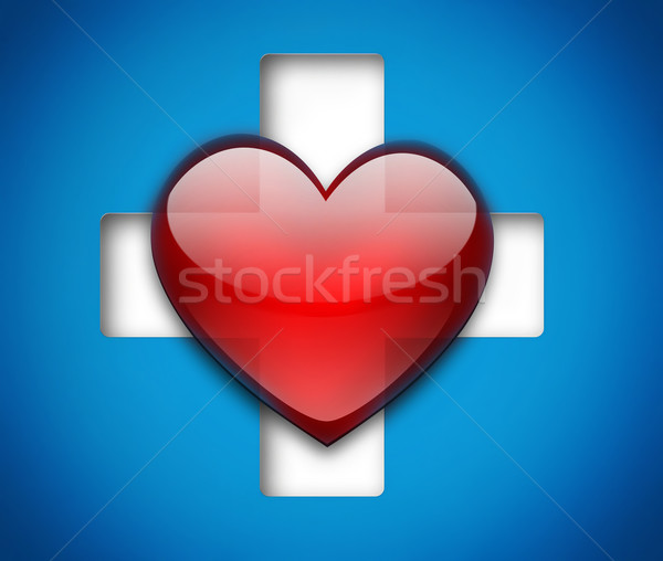 heart and cross Stock photo © zven0