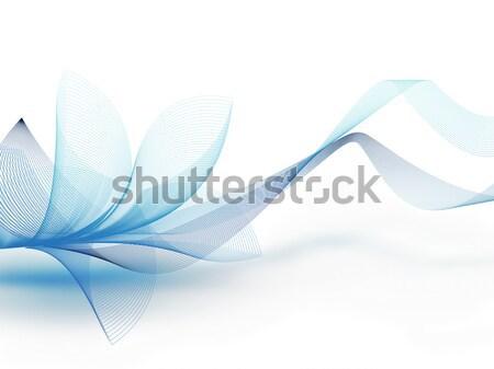 аннотация синий цветок полный экране цветок природы Сток-фото © zven0