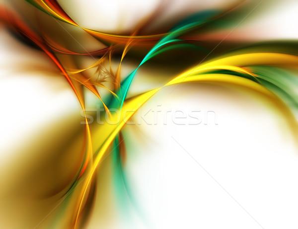Belo abstrato computador gerado azul tela Foto stock © zven0