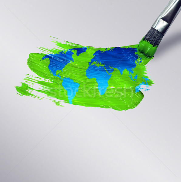Draw the world Stock photo © zven0