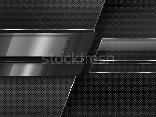Fémes absztrakt fém modern ipari internet Stock fotó © zven0
