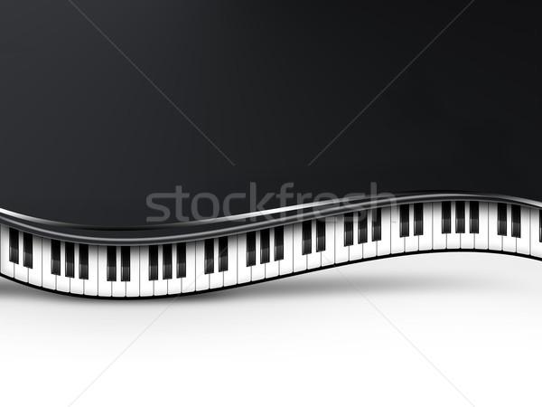 Müzikal piyano tuşları müzik soyut dizayn klavye Stok fotoğraf © zven0