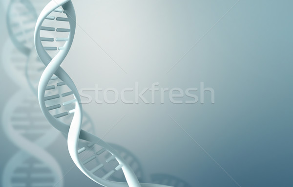 Soyut bilim DNA arka plan mavi hücre Stok fotoğraf © zven0