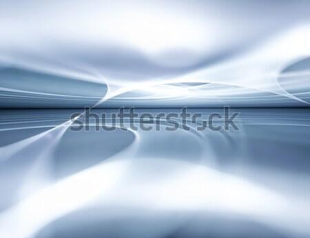 Inverno abstrato fractal horizonte internet projeto Foto stock © zven0