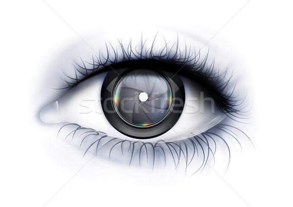 Spojrzeć fotograf oka oczy Zdjęcia stock © zven0