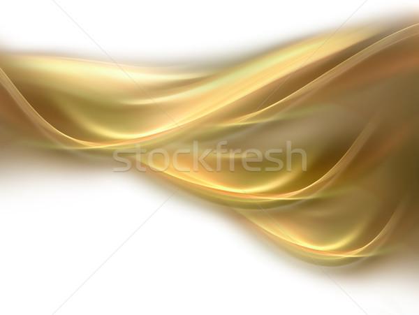 Abstrato amarelo linhas luz fundo laranja Foto stock © zven0