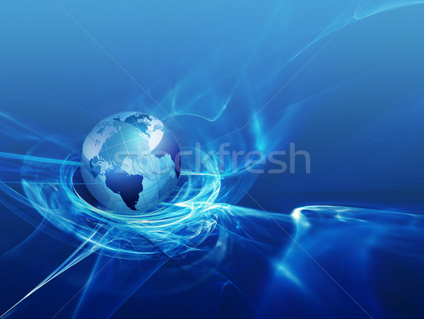 Business abstract wereld internet technologie aarde Stockfoto © zven0