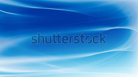 Absztrakt kék ragyogó vonalak üzlet fény Stock fotó © zven0