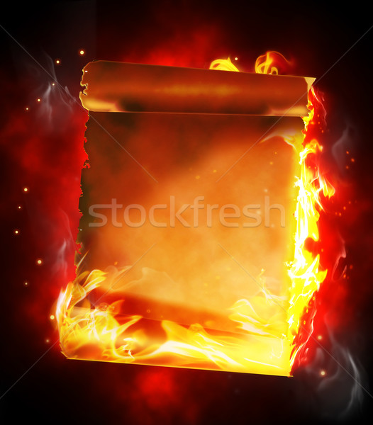 Ardente papiro escuro parede abstrato luz Foto stock © zven0