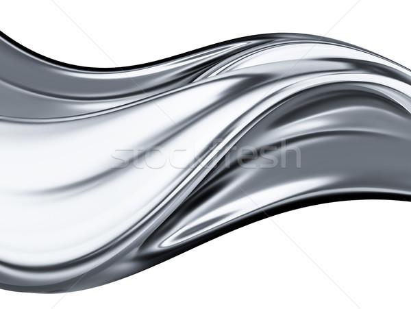 Stock foto: Chrom · Welle · abstrakten · weiß · Textur · Licht