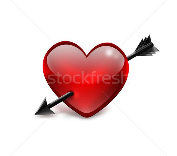 red heart Stock photo © zven0