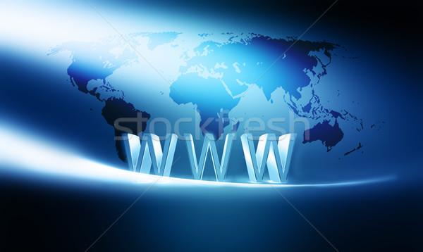 Internet modern számítógép absztrakt fény terv Stock fotó © zven0