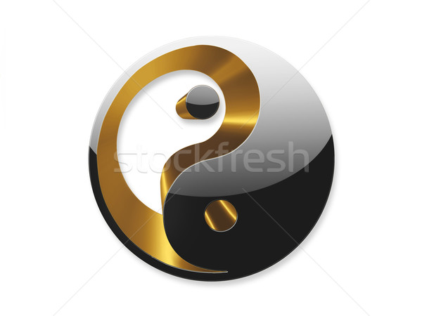 yin yang symbol Stock photo © zven0