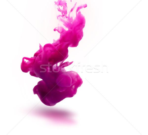 Różowy atramentu podwodne streszczenie wody tle Zdjęcia stock © zven0