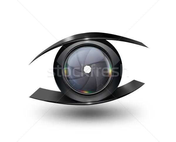Kamera szem absztrakt kameralencse számítógép film Stock fotó © zven0