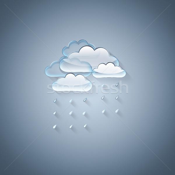 Nuvens luz azul transparente céu natureza projeto Foto stock © zven0