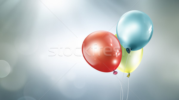 Three different colored balloons  Stock photo © zven0