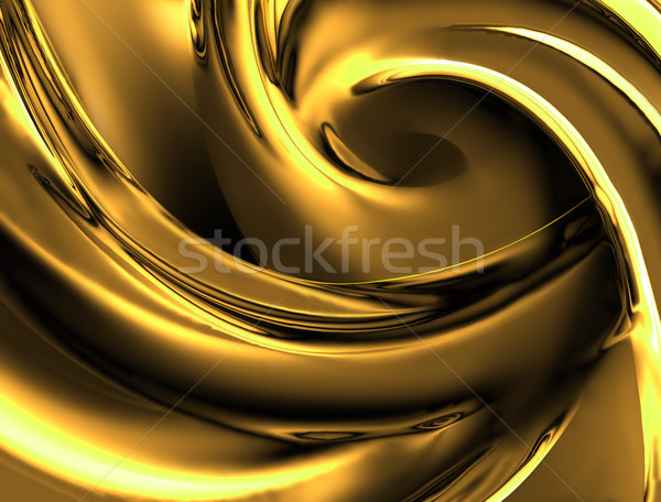 Jaune chrome vague texture design Photo stock © zven0