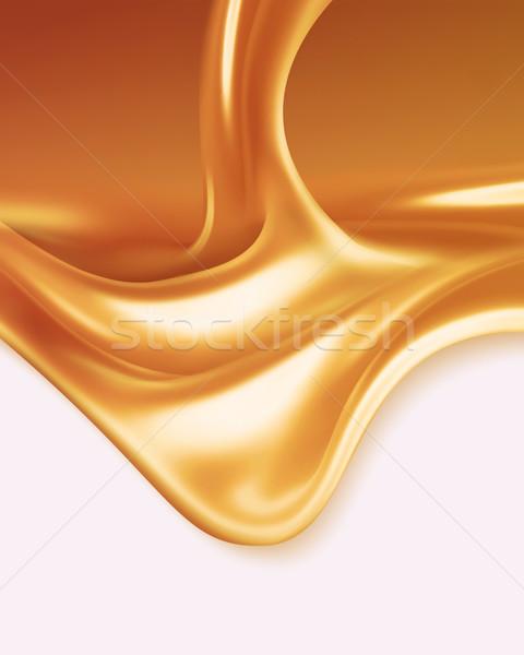 Płynnych karmel biały projektu tle miodu Zdjęcia stock © zven0