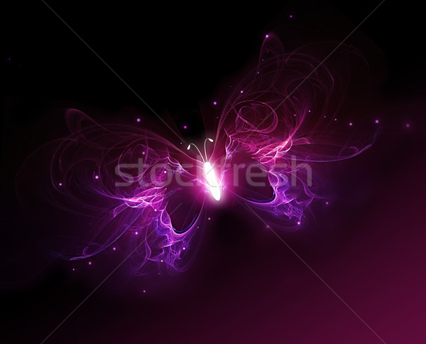 glowing butterfly Stock photo © zven0