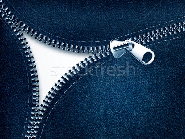 Kot fermuar moda dizayn güzellik Stok fotoğraf © zven0