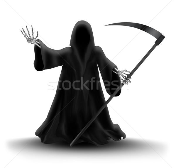 Grimmig afbeelding abstract ontwerp teken zwarte Stockfoto © zven0