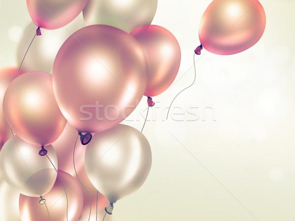 Balony świetle pomarańczowy pełny ekranu Zdjęcia stock © zven0