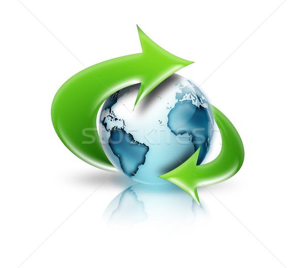 around the world Stock photo © zven0
