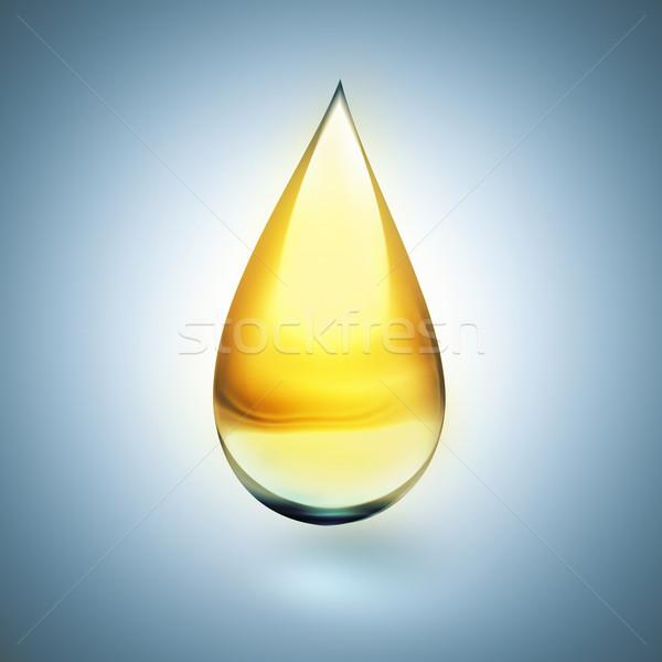 Olie drop zachte schaduw licht voedsel Stockfoto © zven0