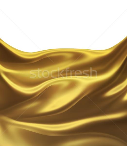 Dorado seda elegante textura moda diseno Foto stock © zven0