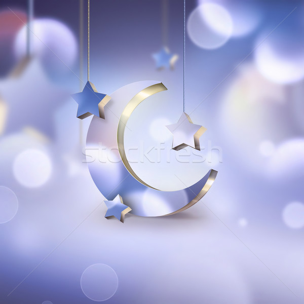 夜景 星 月 背景 1泊 ストックフォト © zven0