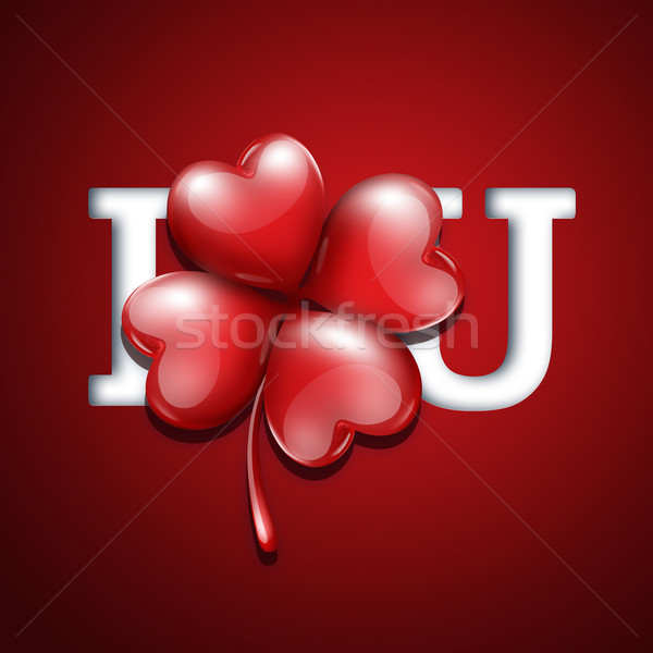 Romantik kart sevgililer günü dizayn yonca sevmek Stok fotoğraf © zven0
