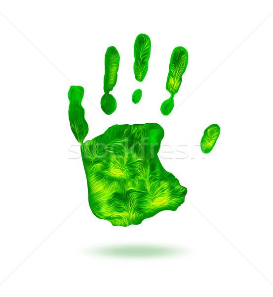 green handprint Stock photo © zven0