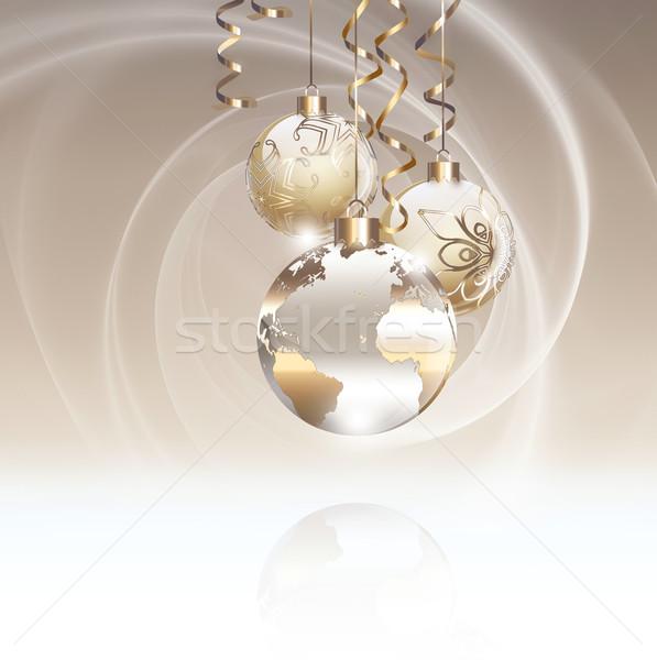 Рождества счастливым свет дизайна Мир фон Сток-фото © zven0