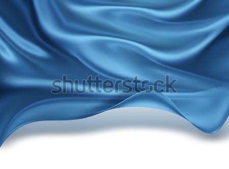 藍色 絲綢 波浪 抽象 設計 波 商業照片 © zven0