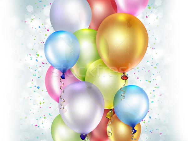 Renkli balonlar mutlu dizayn arka plan Stok fotoğraf © zven0