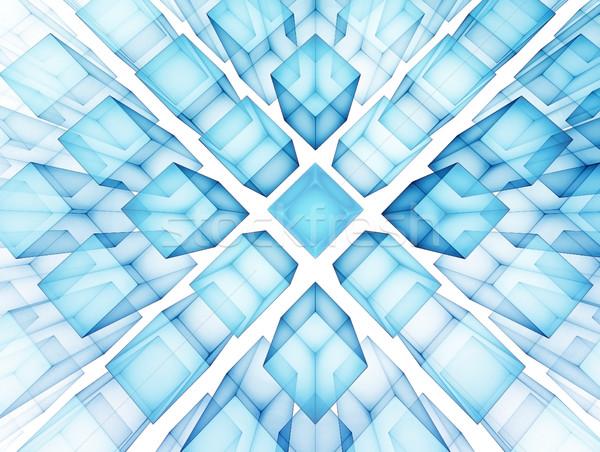 Futuristische technologie pleinen business licht ontwerp Stockfoto © zven0