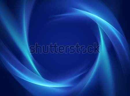 Glänzend blau Wellen abstrakten Rahmen Welle Stock foto © zven0