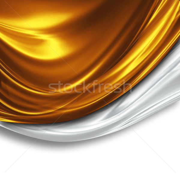 Złota srebrny jedwabiu projektu piękna nowoczesne Zdjęcia stock © zven0