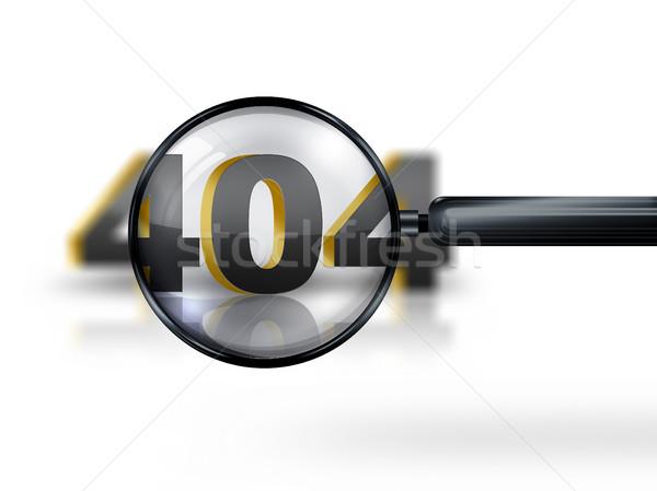 404 エラー 画像 虫眼鏡 コンピュータ 男 ストックフォト © zven0